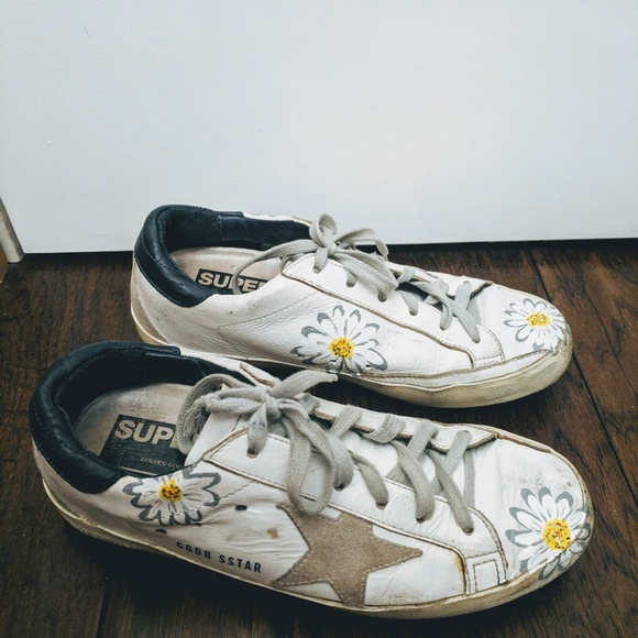 0856a08f1 Golden Goose Shoes - Golden Goose Daisy Painted Superstar Sneakers 37